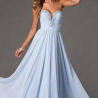 Floor Length Strapless Sweetheart Dress by Swing Prom