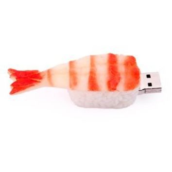 HDE 8GB Food Snack Dessert Shaped High Speed USB Flash Thumb Drive Memory Stick (Shrimp Sushi Roll)
