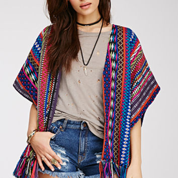Southwestern-Patterned Cardigan