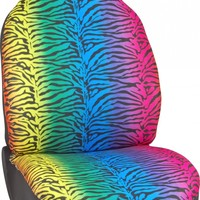Zebra Rainbow Car Seat Cover
