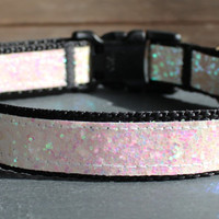 Adjustable Dog Collar- Iridescent Glitter