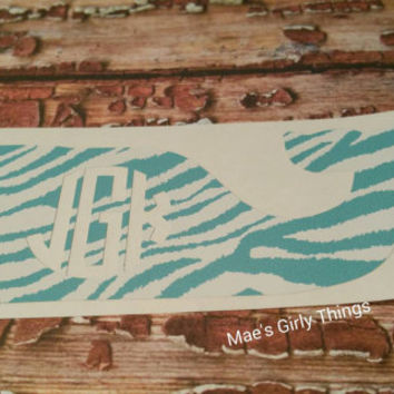 4 inch whale monogram decal