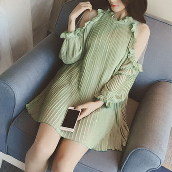 Womens Summer Loose Chiffon Dress Gift 67