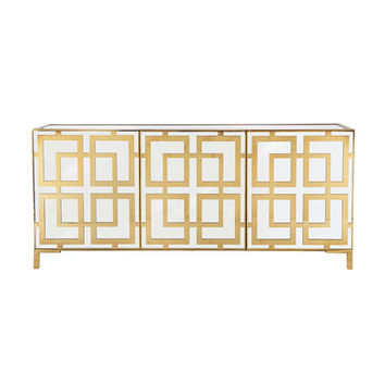 Bernhardt Keating Mirrored Console