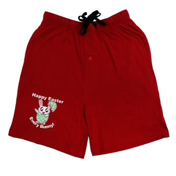Happy Easter Every Bunny Adult Lounge Shorts  by TooLoud