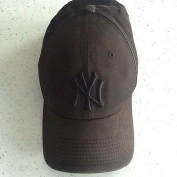 CREYRQ5 NY New Era Baseball Cap Brown Size 50cm