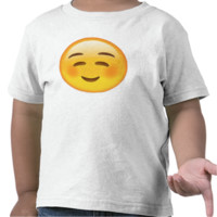 White Smiling Face Emoji Shirt