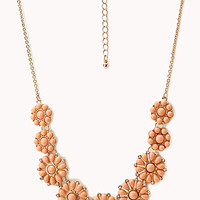 FOREVER 21 Dainty Floral Faux Stone Necklace