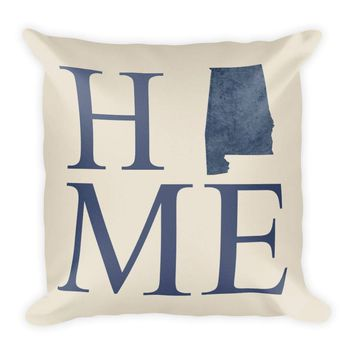 Alabama Map Pillow – Modern Map Art
