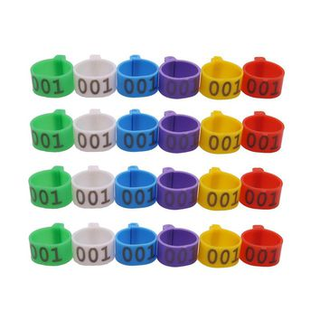 Diameter 16mm No. 1 to No. 100 Chicken With Feet Poultry Chicken Logo Buttoned Foot Ring Words And No Words 6 Colors Available