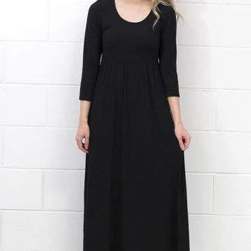 Best Suedette Maxi Dress Ever {Black}