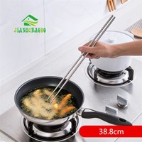 Stainless Steel Extended Chafing Dish Fried Chopsticks Household Antiskid Mouldproof Pointed Tachyon Mein Chopsticks