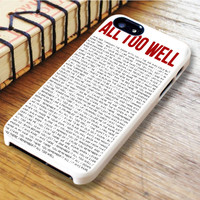 All To Well Lyric Taylor Swift iPhone 6 Case