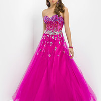 Strapless Sweetheart Ball Gown Pink By Blush Prom 5314