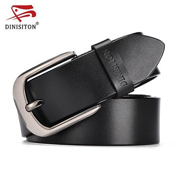 Belt Metal Pin Buckle Vintage Belts For Men Genuine Leather Strap For Fashion Casual Jeans Luxury