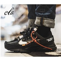 "Virgil Abloh Off White x Nike Air Presto 2.0 Running Sneaker ""OW Black"" AA3830-002"