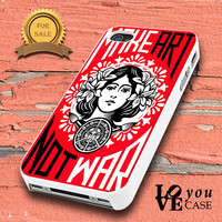 Obey make art not war    for iphone, ipod, samsung galaxy, HTC and Nexus PHONE CASE