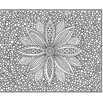 Zentangle Inspired Printable Coloring Page Zendoodle by JoArtyJo