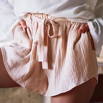 Angie Bow Tie Shorts
