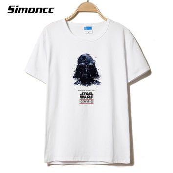 2017 New Fashion Brand Darth Vader Funny Print Star Wars Men's T shirt Plus Size Hot Homme T shirt For Man