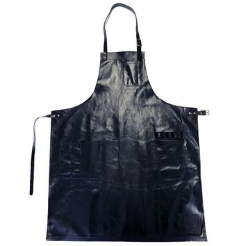 WS ALEX LEATHER APRON, BLACK