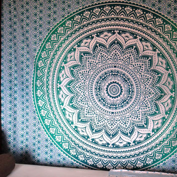 Mandala Tapestry/ mandala Throw, Ombre Mandala Tapestry