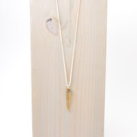 Love, Poppy Single Suede Spike Necklace