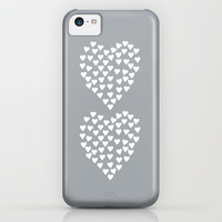 Hearts Heart x2 Grey iPhone & iPod Case by Project M
