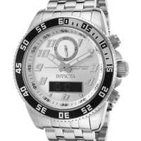Invicta Men's Pro Diver Stainless Steel Digital Watch, 50mm - Silver