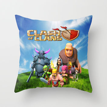 Clash of Clans Throw Pillow by Store2u
