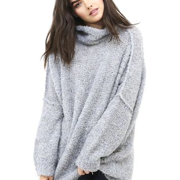 Free People She's All That Sweater in Blue