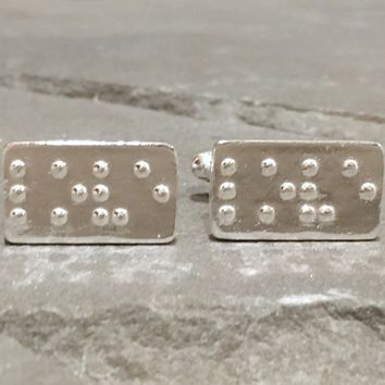 LOVE in Braille Cufflinks