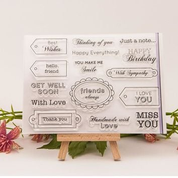 label Scrapbook DIY photo cards rubber stamp clear stamp seal hand finished chapter transparent account T0150