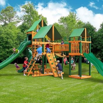 Gorilla Playsets Treasure Trove II Deluxe Wooden Swing Set