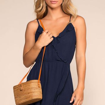 Seaside Rush Wrap Dress - Navy