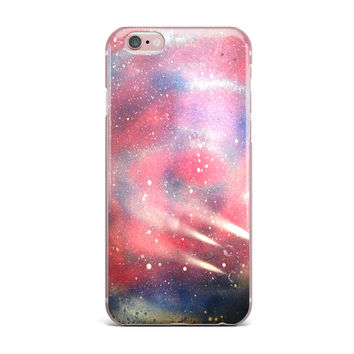 "Infinite Spray Art ""Cascade Swirl"" Red Pink iPhone Case"