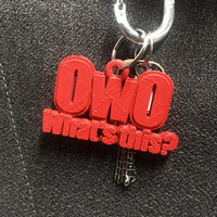 OwO What's this?- 3D Keychain