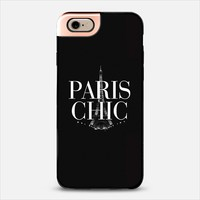 Paris Chic Black & White Eiffel Tower iPhone 6 case by Rex Lambo | Casetify