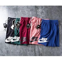 Nike Fashion Men Women Loose Print Sports Running Shorts