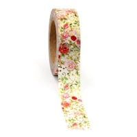Masking Tape Stickers tape heart washi flower glitter washi Size 15mm*10m