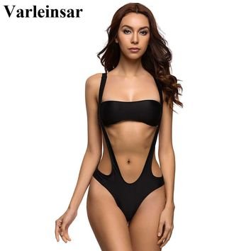 High cut thong one piece Swimsuit with separated top
