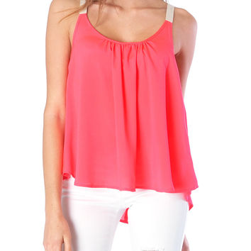 Popsicle Tank Top - Neon Coral