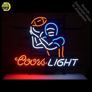 Neon Signs for Coors Light Football Sport Handcrafted Neon Bulbs sign Glass Tube Decorate Beer Bar Sign Advertise dropshipping