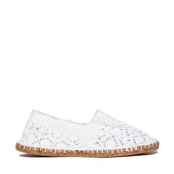 London Rebel Crochet Espadrille