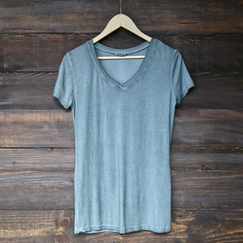 BSIC - vintage acid wash v neck t-shirt (more colors)