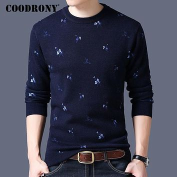 Winter New Thick Warm O-neck Sweater Men Knitted Cashmere Wool Pullover Men Casual Pattern Pull