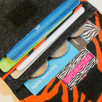 Halloween Wallet, Black wallet, Orange wallet, Zebra wallet,  Wallet, Women's wallet, Fabric wallet, Small wallet, Wallet