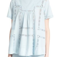 Sea Pintucked Short Sleeve Top | Nordstrom