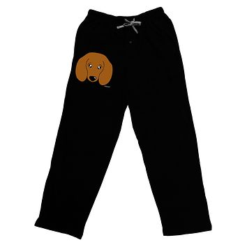 Cute Doxie Dachshund Dog Adult Lounge Pants - Black by TooLoud