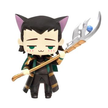 Avengers Thor Mini Action Figures 1/10 scale painted figure Mini Cat Cute Loki PVC figure Toy Brinquedos Anime